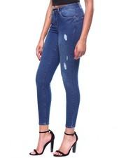 Skinny - 5 Pocket Distressed Skinny Jean-2260222