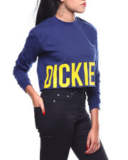 Dickies - Off Edge Logo Raw Edge Crew Neck-2260599