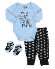 Duck Duck Goose - 3 Piece So Fly Knit Set (Infant)-2258363