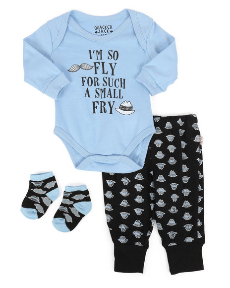 Duck Duck Goose - 3 Piece So Fly Knit Set (Infant)