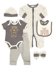 Duck Duck Goose - 7 Piece Bear Print Gift Set (Infant)-2258604