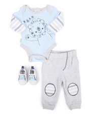 Duck Duck Goose - 3 Piece Lion Roar Knit Set (Infant)-2258306