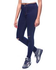 Skinny - Hi Waist Slit Knee Skinny Jean-2260818