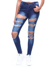 Skinny - Destructed High Waist Skinny Jean-2260827