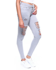 Skinny - Front + Back Destruction Skinny Jean-2256451