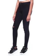 Jeans - Hi Waist Slit Knee Skinny Jean-2260803