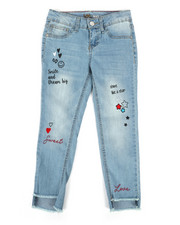 Sizes 7-20 - Big Kids - Ankle Doodle Cropped Jeans (7-16)-2260186