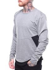 Men - Two Tone French Terry Zipper Pullover-2261748