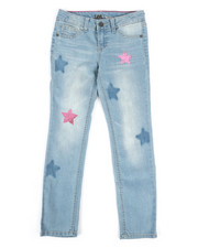 Girls - Star Glitter Patch Skinny Jeans (7-16)-2260174