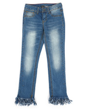 Girls - Frayed Cropped Jeans w/Studs (7-16)-2260254