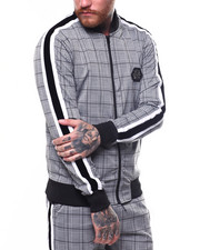 Track Jackets - GLEN PLAID TRACK JACKET-2261547