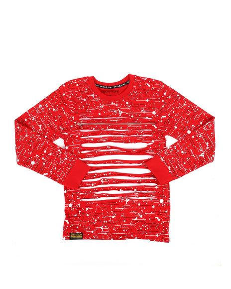 SWITCH - Long Sleeve Allover Printed Razor Slash Shirt (8-20)