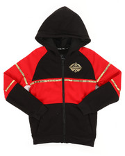 Boys - Color Block Full Zip Hoodie w/ Gold Trim (8-20)-2261157