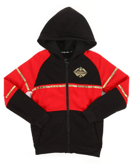 SWITCH - Color Block Full Zip Hoodie w/ Gold Trim (8-20)