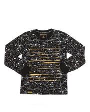 Tops - Long Sleeve Allover Printed Razor Slash Shirt (8-20)-2261064