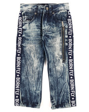 Born Fly - Washed Denim Jeans w/Taping Detail (2T-4T)-2260145