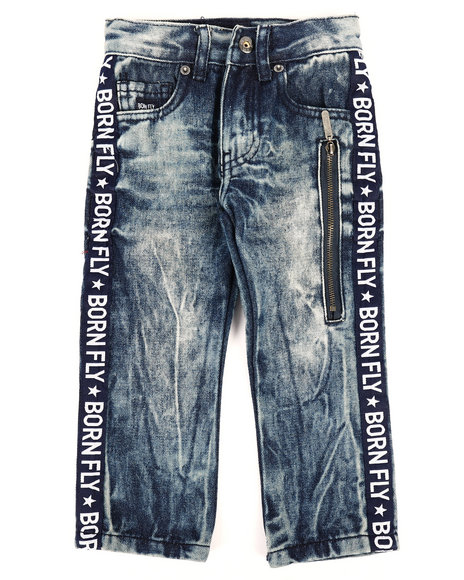Born Fly - Washed Denim Jeans w/Taping Detail (2T-4T)