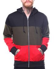 Buyers Picks - French Terry Full Zip Color Block Hoodie-2261808