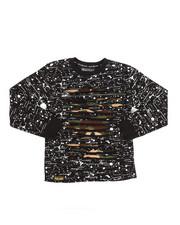 Tops - Long Sleeve Allover Printed Razor Slash Shirt (8-20)-2261059