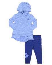 Infant & Newborn - 2 Piece Melange Hooded Top & Legging Set (Infant)-2261090