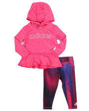 Infant & Newborn - 2 Piece Melange Hooded Top & Legging Set (Infant)-2261094
