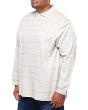 Shirts - L/S Flex Jaspe Windowpane Polo (B&T)-2259551