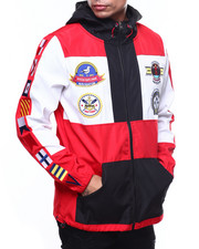 Men - Nautical Zip up Nylon Jacket-2253330