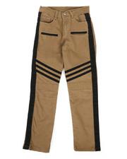Pants - Stretch Twill Moto Pants w/Contrast Stripe Panels (8-20)-2261250