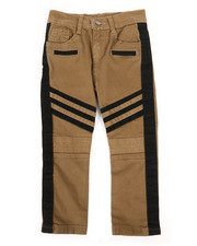 Bottoms - Stretch Twill Moto Pants w/ Contrast Stripe Panels (4-7)-2261245