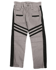 Bottoms - Stretch Twill Moto Pants w/Contrast Stripe Panels (4-7)-2261261