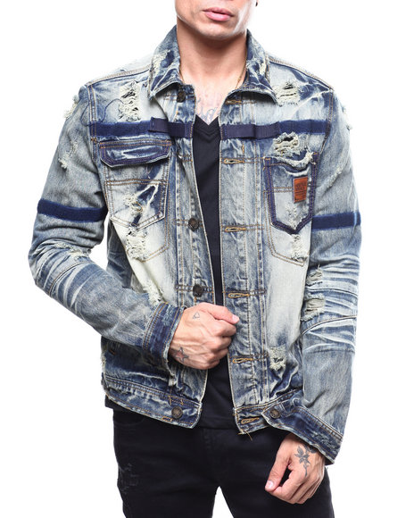 Heritage America - Denim Jacket w Tape Detail