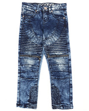Jeans - Fashion Cut & Sew Moto Denim Jeans w/Zippers (4-7)-2261309