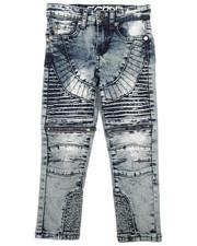 Jeans - Fashion Cut & Sew Moto Denim Jeans w/Zippers (4-7)-2261304