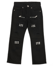 Arcade Styles - Ripped Repaired Moto Twill Pants (4-7)-2261277