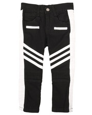 Arcade Styles - Stretch Twill Moto Pants w/Contrast Stripe Panels (2T-4T)-2261241
