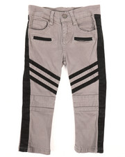 Arcade Styles - Stretch Twill Moto Pants w/Contrast Stripe Panels (2T-4T)-2261273