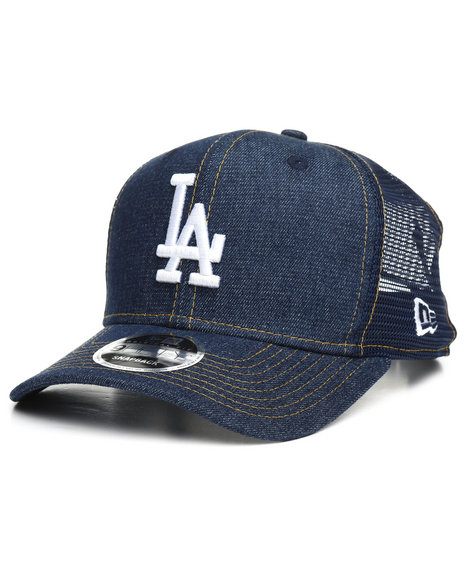 Buy 9Fifty Denim Stitched Duo Los Angeles Dodgers Trucker Hat Men s ... 77fa926759e