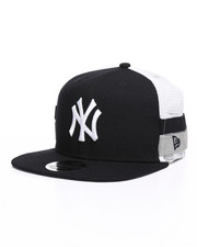 New Era - 9Fifty High Crown Striped Side Lineup NY Yankees Trucker Hat-2259043