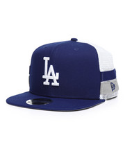 New Era - 9Fifty High Crown Striped Side Lineup LA Dodgers Trucker Hat-2259042