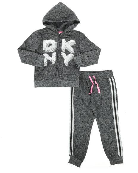DKNY Jeans - 2 Piece Hoodie & Jogger Set (4-6X)