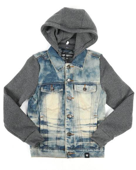 Arcade Styles - Hooded Denim Jacket (8-20)