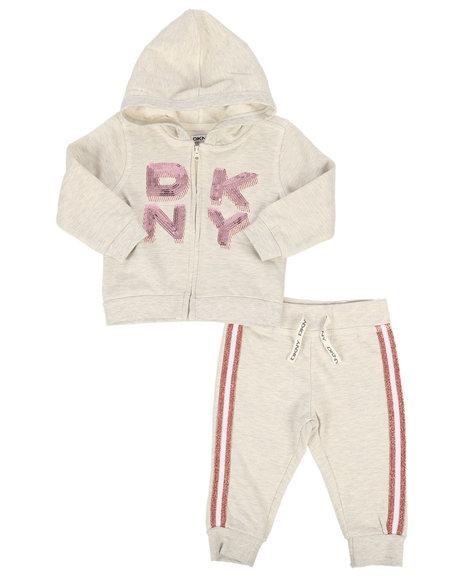 DKNY Jeans - 2 Piece Hoodie & Jogger Set (Infant)