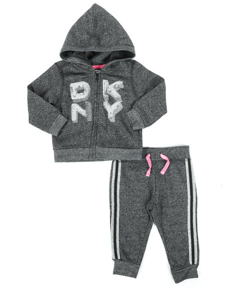 DKNY Jeans - 2 Piece Hoodie & Jogger Set (Infant)