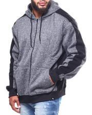 Light Jackets - Side Panel Marled Fleece (B&T)-2263023