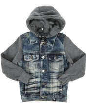 Boys - Hooded Denim Jacket (4-7)-2261378