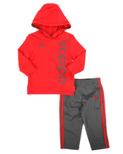 Adidas - 2 Piece Hooded Top & Pants Set (Infant)-2262924