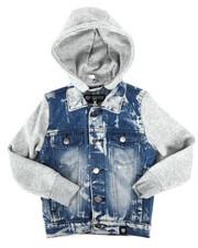 Outerwear - Hooded Denim Jacket (4-7)-2261373