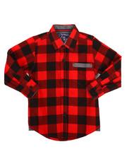 Tops - Long Sleeve Woven Shirt (4-7)-2261342