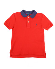 Tops - Cotton Mesh Polo Shirt (2T-4T)-2262797