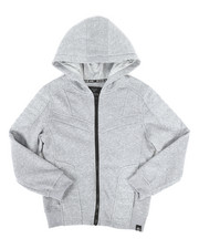 SWITCH - Quilted Fleece Full Zip Hoodie (8-20)-2259452